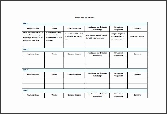 Project Work Plan Template Fresh 4 Project Plan In Pdf Sampletemplatess Sampletemplatess
