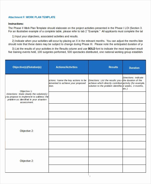 Project Work Plan Template Inspirational 15 Project Plan Templates