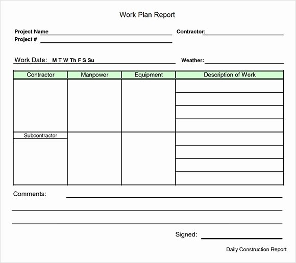 Project Work Plan Template Inspirational Work Plan Template 20 Download Free Documents for Word