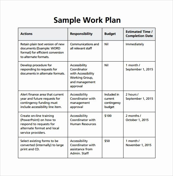 Project Work Plan Template Lovely Image Result for Work Plan Template Workplan
