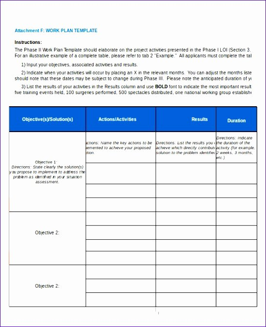 Project Work Plan Template New 6 Excel Work Plan Template Exceltemplates Exceltemplates