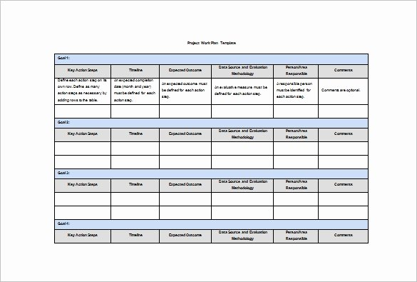 Project Work Plan Template Unique Work Plan Template 16 Free Word Pdf Documents Download