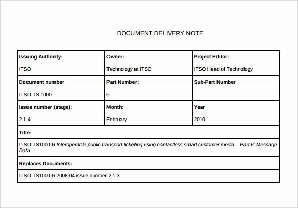 Proof Of Delivery Template Beautiful 21 Sample Delivery Note Templates – Pdf Doc Excel