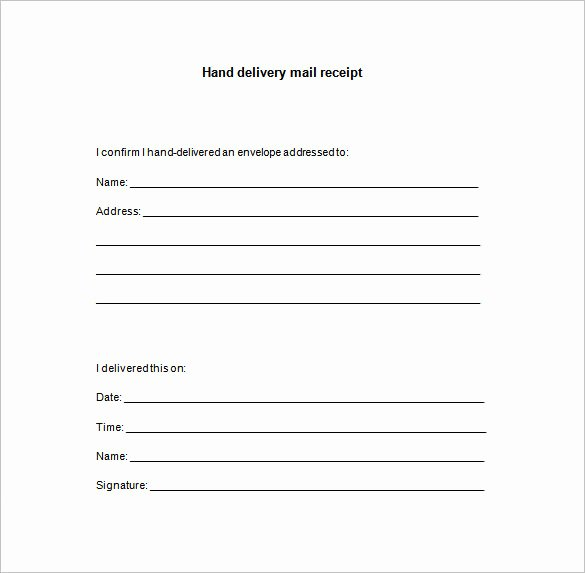 Proof Of Delivery Template Fresh 15 Delivery Receipt Templates Pdf Doc