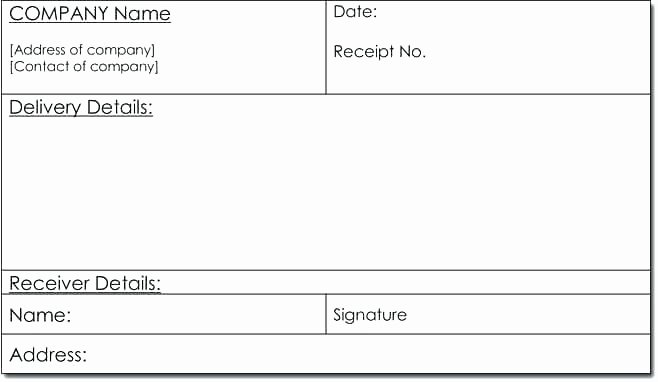 Proof Of Delivery Template Lovely Delivery Receipt Definition Receipted Definition