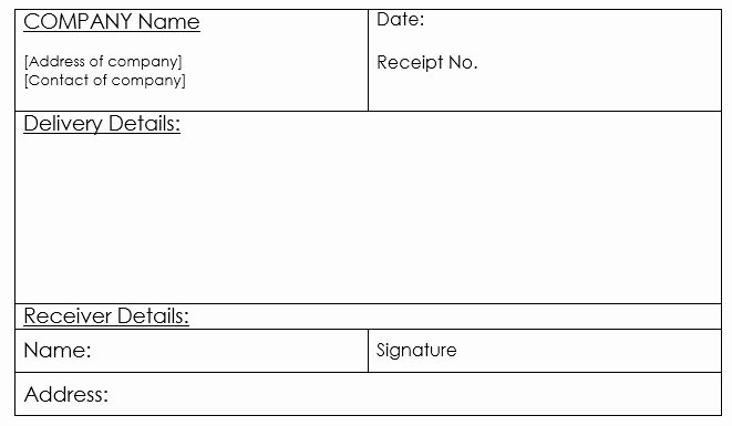 Proof Of Delivery Template Luxury 10 Free Sample Goods Delivery Receipt Templates