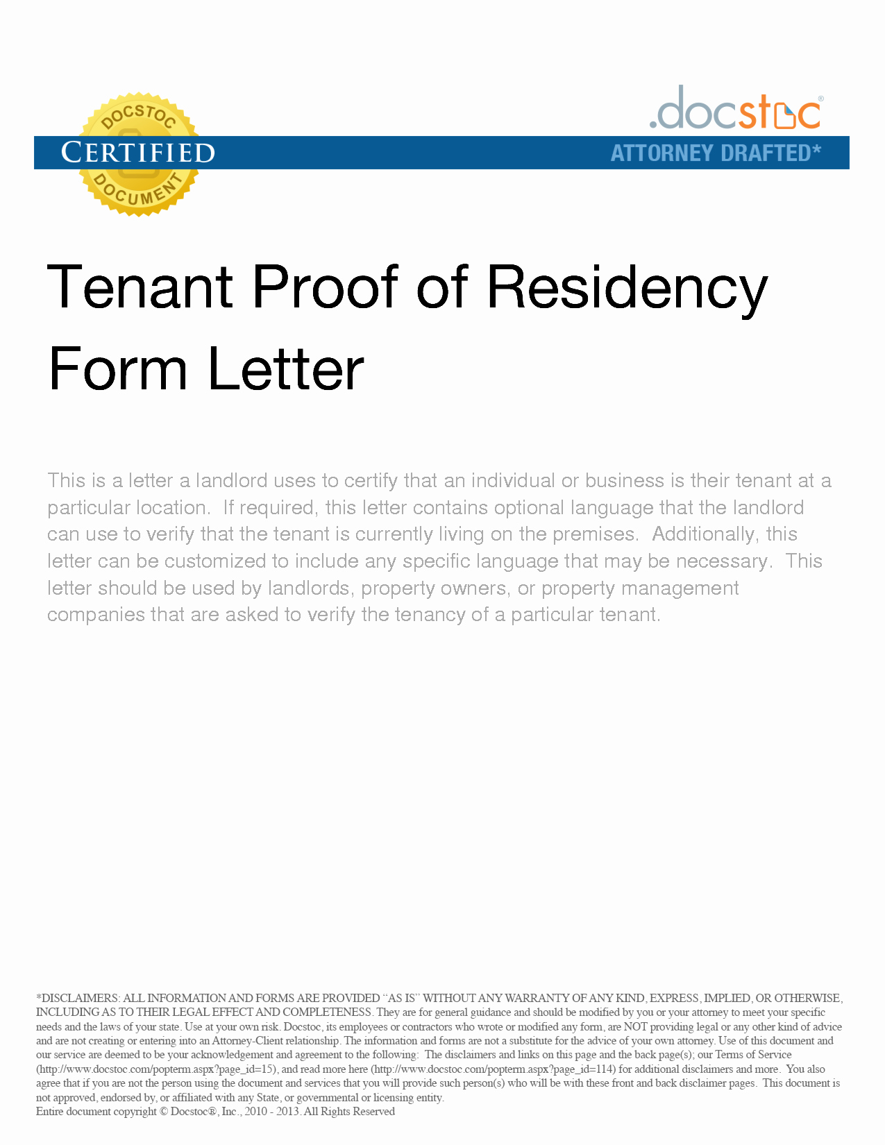 Proof Of Domicile Letter Fresh Tenant Proof Residency form Letter