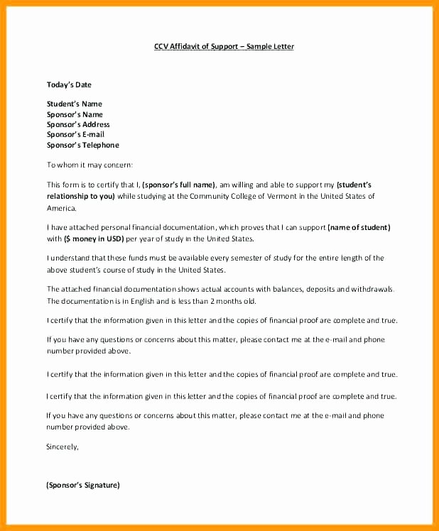 Proof Of Marriage Letter for Immigration Beautiful 15 Letter Of Immigration Support Example