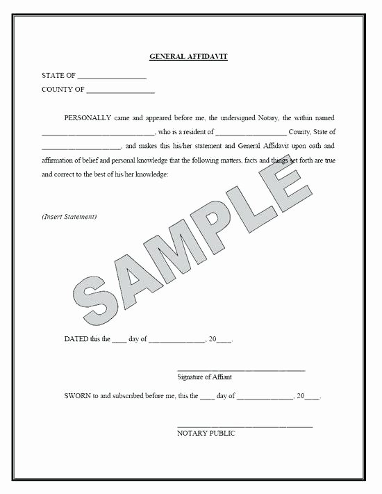 Proof Of Marriage Letter for Immigration New New Affidavit Template Word Affidavit Facts Template