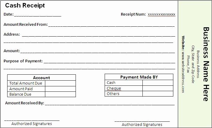 Proof Of Payment form Fresh Payment Receipt Template