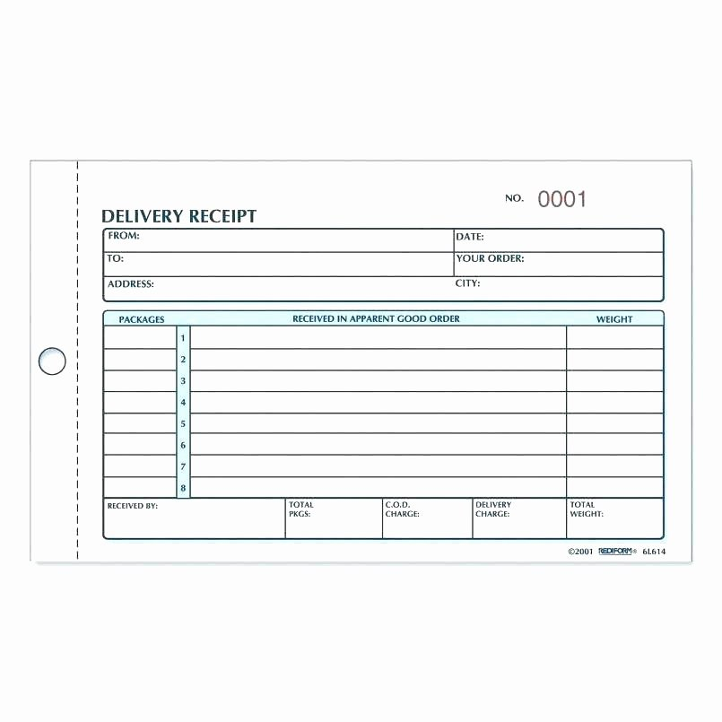Proof Of Payment form New Delivery Confirmation Template Confirmation Delivery form