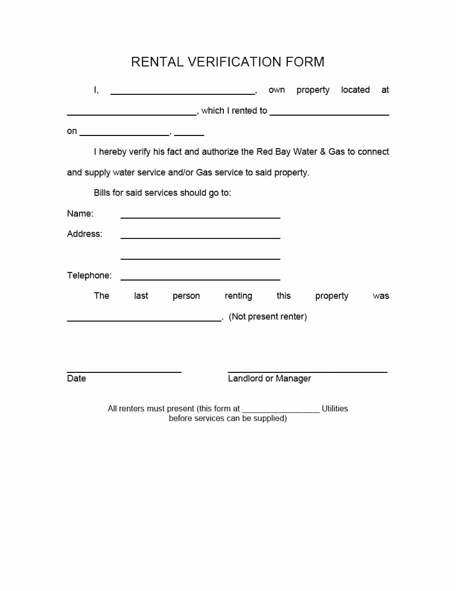 Proof Of Payment form Unique 29 Rental Verification forms for Landlord or Tenant