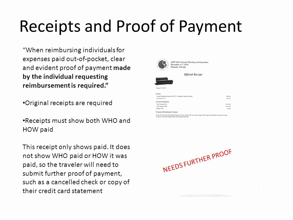 Proof Of Payment Receipt Best Of A Travel Reimbursement From Start to Finish Ppt Video