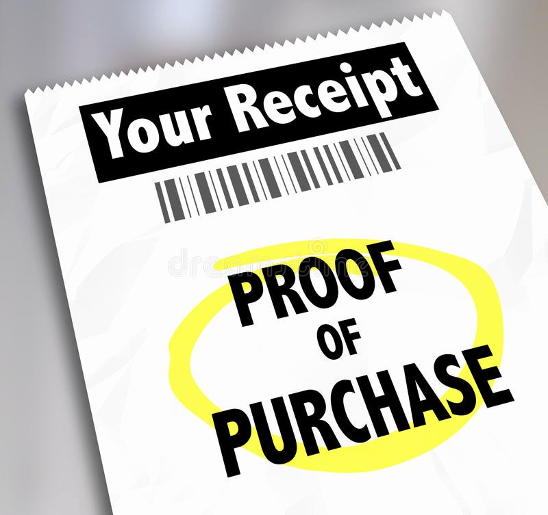 Proof Of Purchase Receipt Unique Proof Purchase Your Receipt Buying Products Store