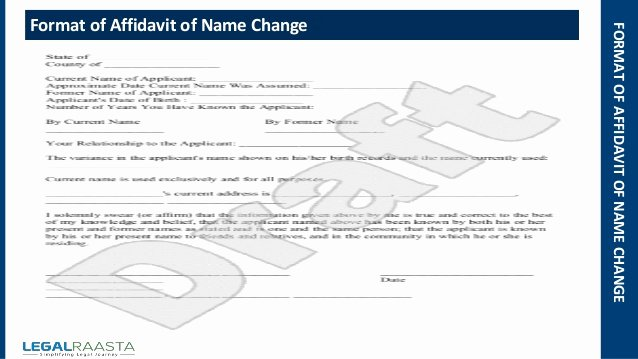 Proof Of Residency Letter for Dmv Awesome Affidavit Of Name Change format Template