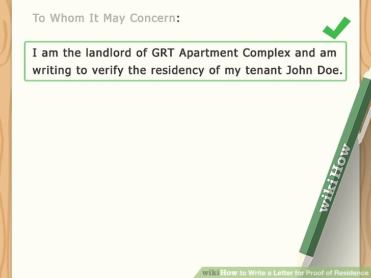 Proof Of Residency Letter for Dmv Fresh How to Write A Letter for Proof Of Residence with Sample