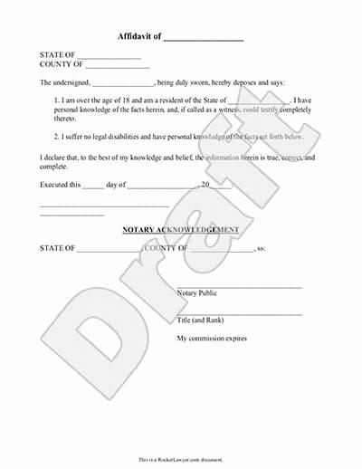 Proof Of Residency Letter for Dmv Inspirational Affidavit form General Affidavit Template