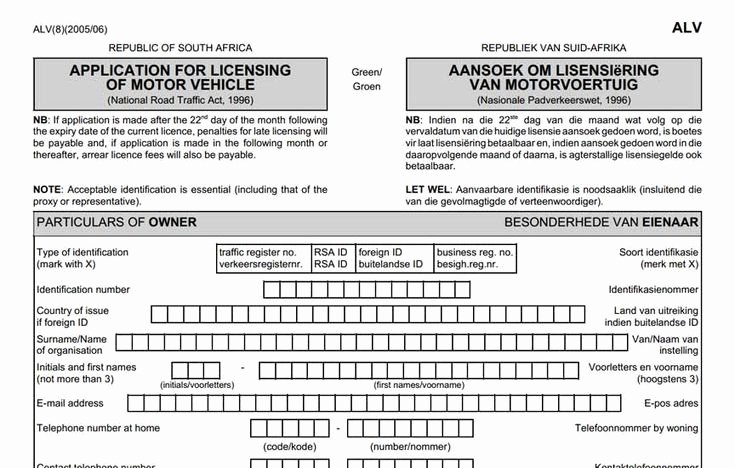 Proof Of Residency Letter for Dmv Lovely Application form for Renewal Of Motor Vehicle License Disc