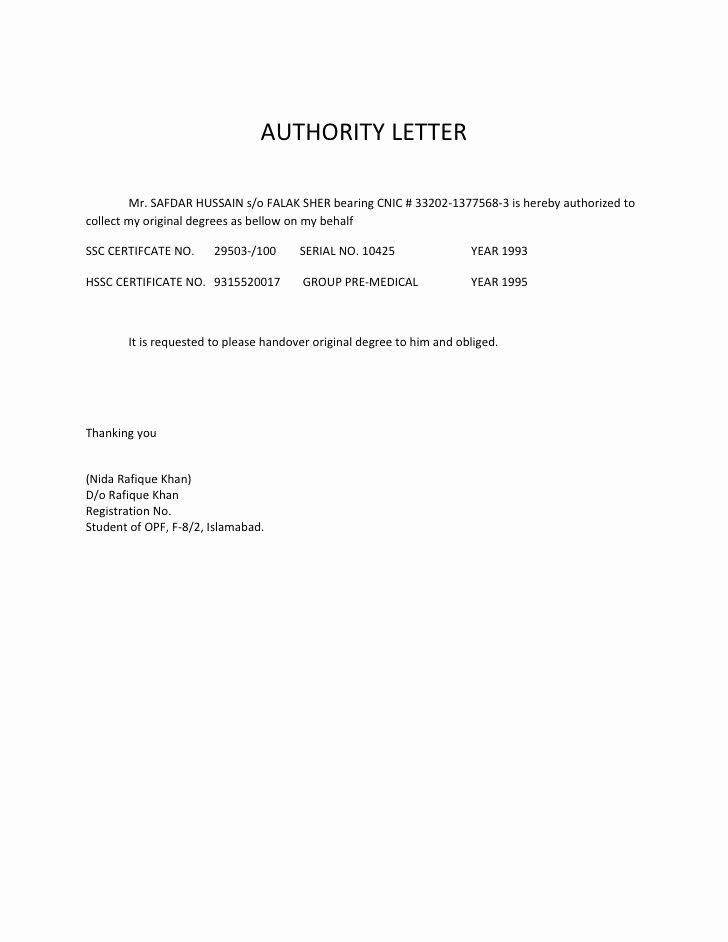 Proof Of Residency Letter for Dmv Luxury format for Authority Letter Authorized Person Best