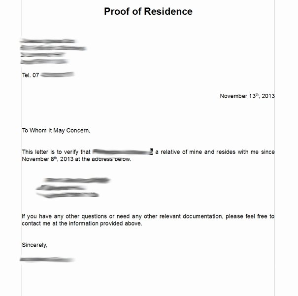 Proof Of Residency Letter Template Pdf Lovely Notarized Letter Residency