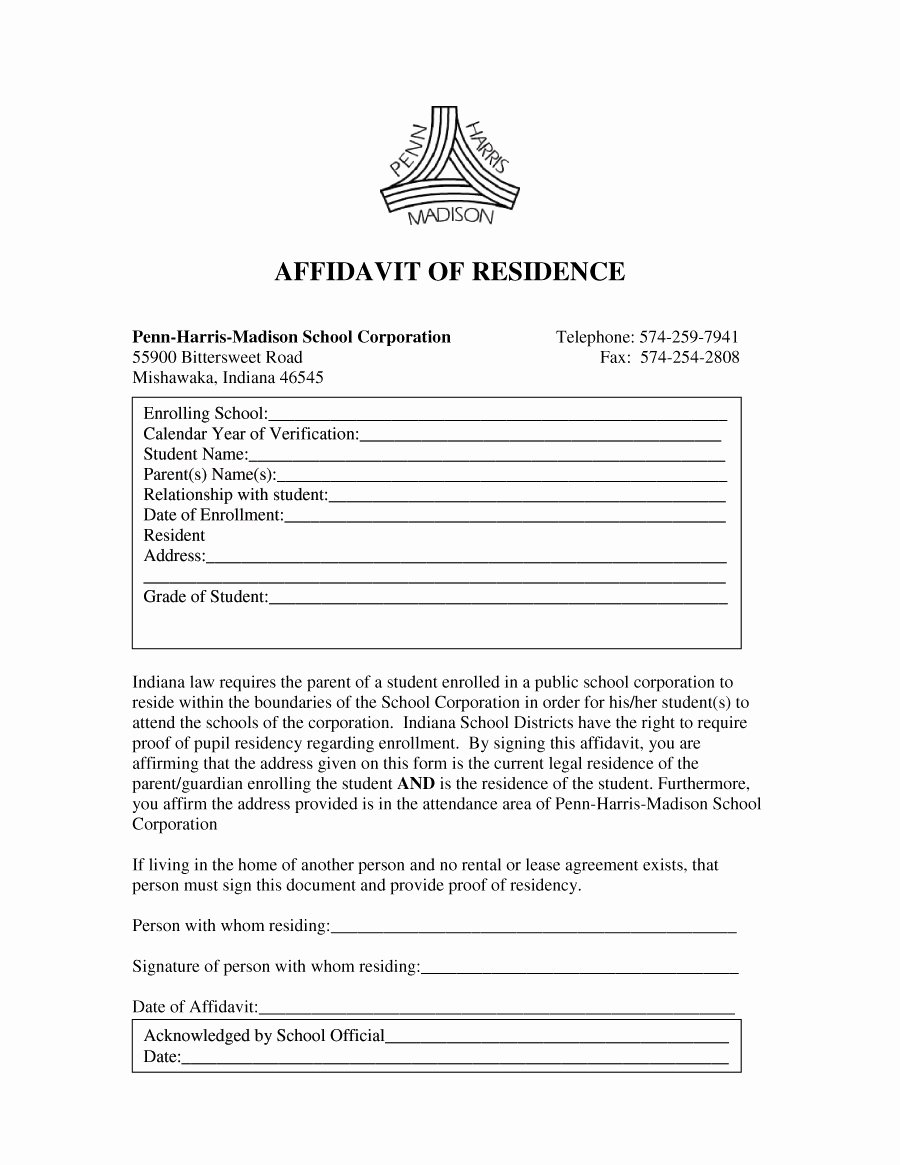 Proof Of Residency Letter Template Pdf Luxury 36 Proof Residency Letters From Family Member