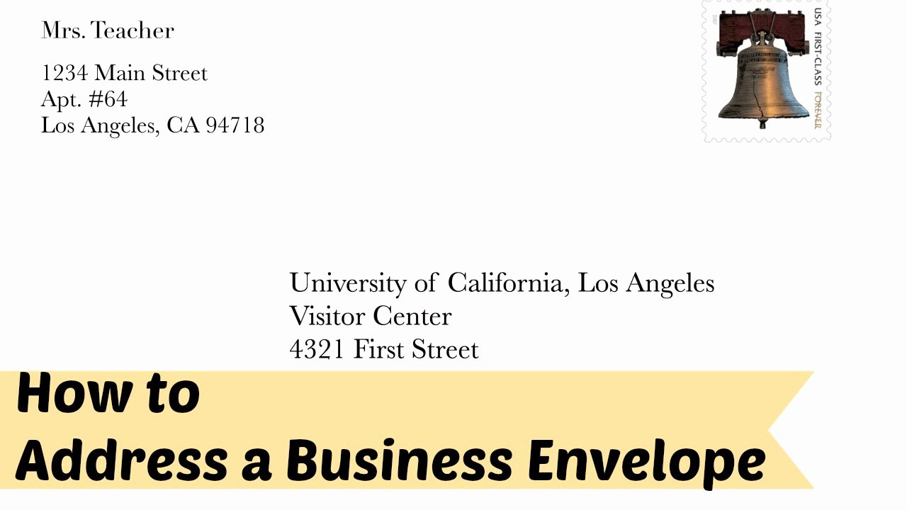 Proper Letter Envelope format Elegant Addressing An Envelope to A Business