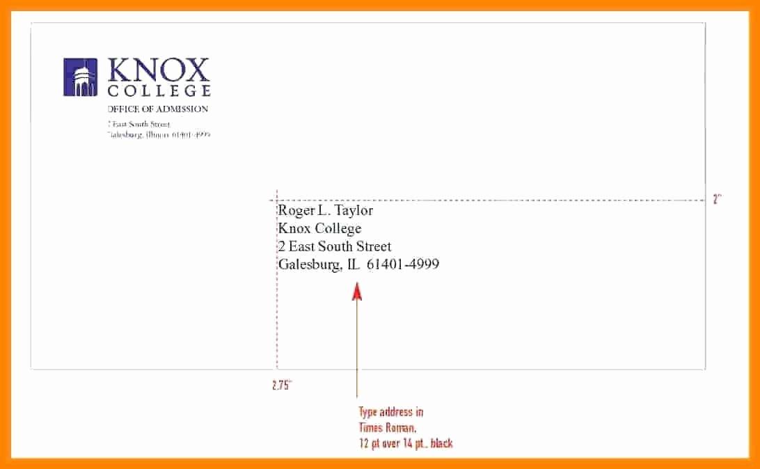 Proper Letter Envelope format Fresh 12 Enevelope format
