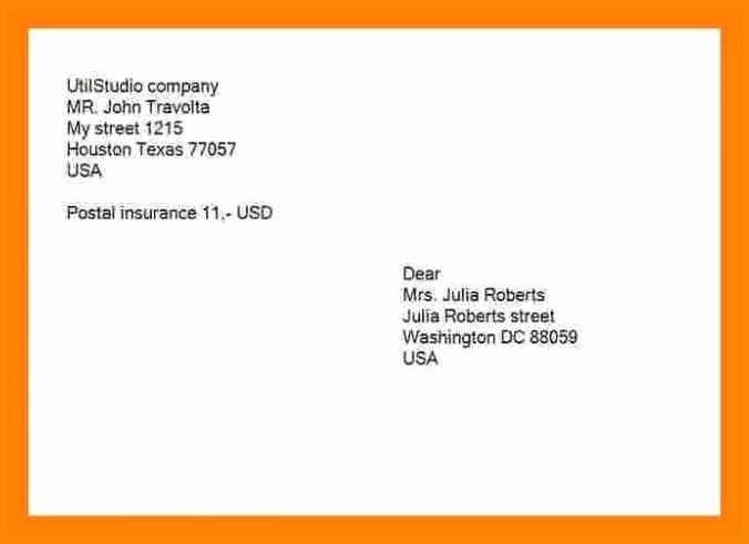 Proper Letter Envelope format Fresh 9 10 Mailing Address Canada format