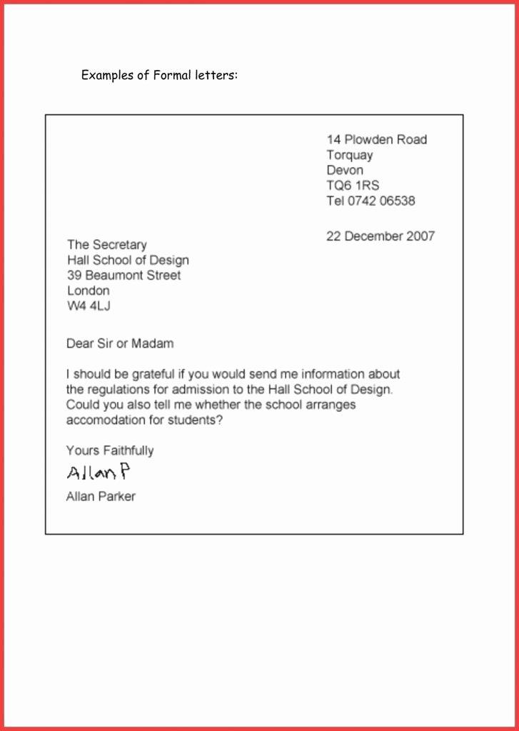 Proper Letter Envelope format Fresh format for Mailing A Letter