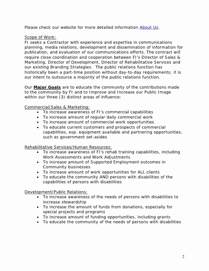 Public Relations Plan Template Fresh Template Public Relations Rfp