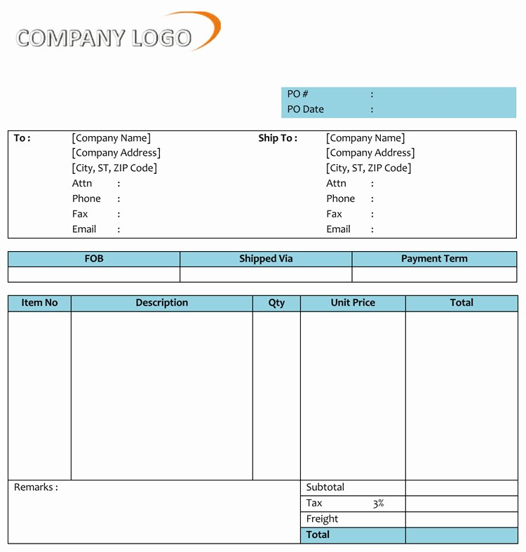 Purchase order Template Microsoft Word Beautiful 40 Free Purchase order Templates forms