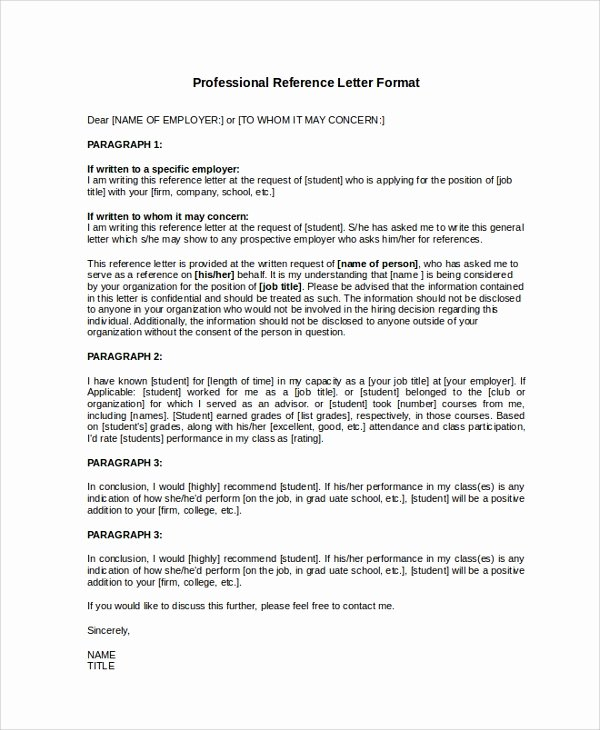Purdue Letter Of Recommendation New Professional Letter format Sample 8 Examples In Pdf Word