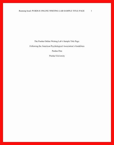 Purdue Owl Letter format Best Of Letter format Purdue Owl