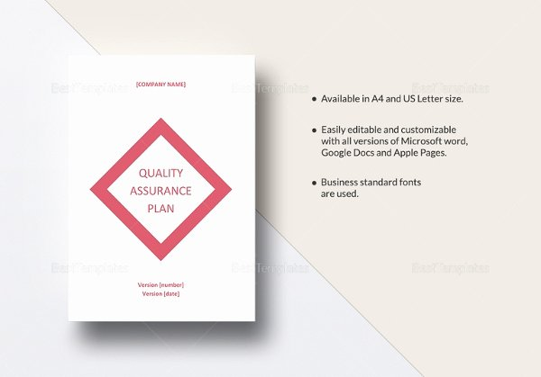Quality assurance Plan Template Best Of 12 Quality assurance Plan Templates – Free Sample