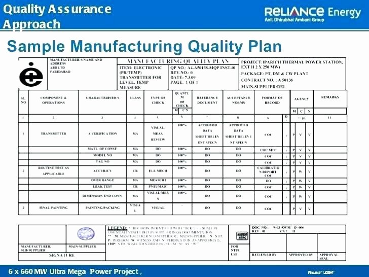 Quality assurance Plan Template Inspirational Project Quality Plan Template 8 Example Quality Planning