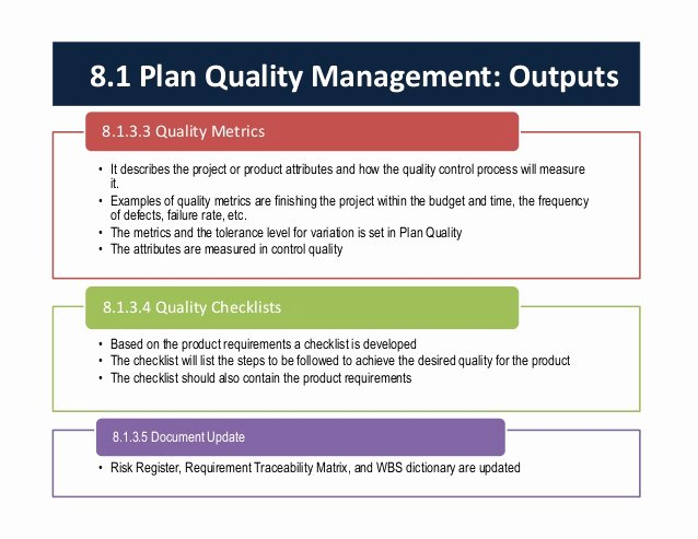 Quality Control Plan Template Best Of Project Quality Management