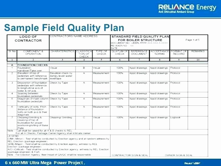 Quality Control Plan Template Construction Fresh Quality Control Plans Templates assurance Program Template