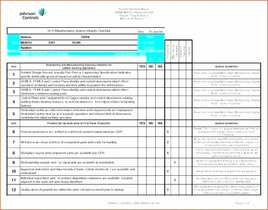 Quality Control Plan Template Construction Lovely Sample Quality Control Plan for Manufacturing Quality