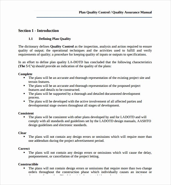 Quality Control Plan Template Construction Luxury 9 Quality Control Plan Templates