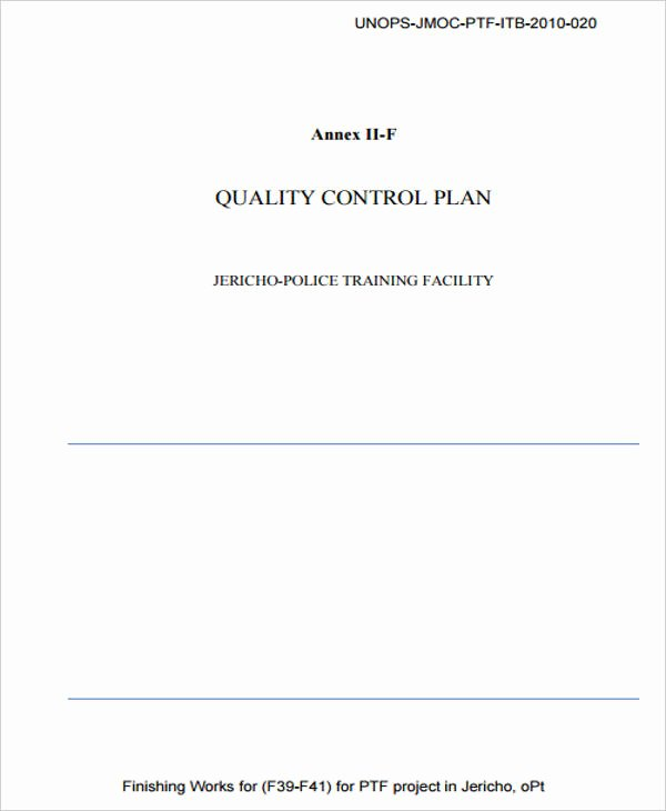 Quality Control Plan Template New 7 Control Plan Samples & Templates