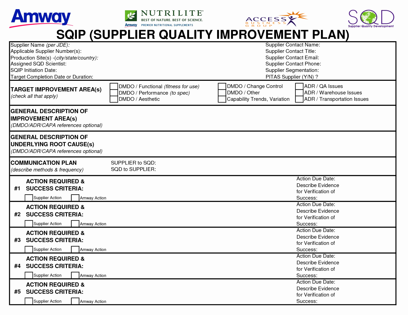 Quality Improvement Plan Template Awesome 21 Of Quality Improvement Report Template