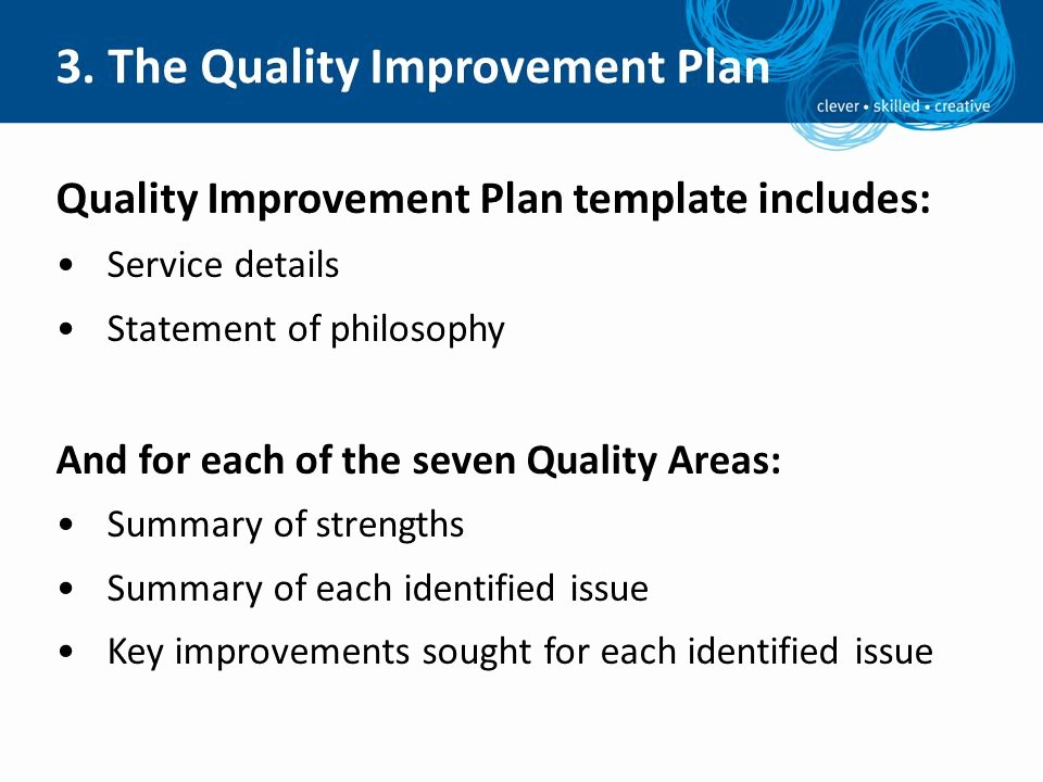 Quality Improvement Plan Template Luxury National Quality Framework Self assessment and Quality