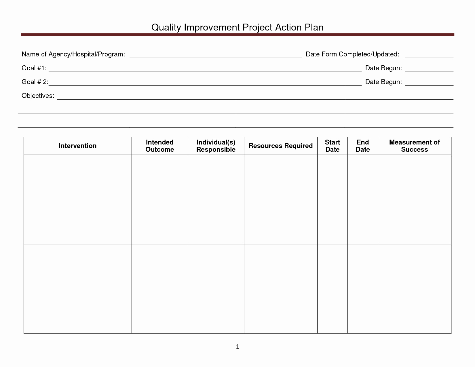 Quality Improvement Plan Template New 20 Brilliant Samples to Help You Create Business Action