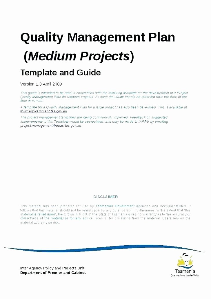 Quality Management Plan Template Awesome Quality assurance Plan Template Free Project Management
