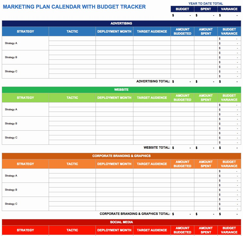 Quarterly Action Plan Template Awesome 9 Free Marketing Calendar Templates for Excel Smartsheet
