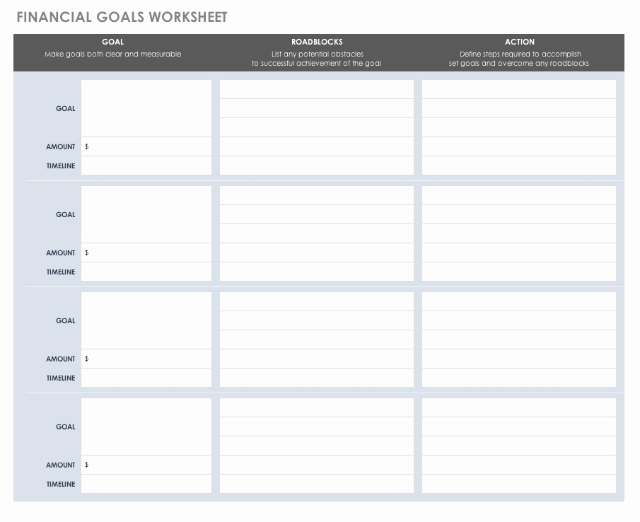 Quarterly Action Plan Template Fresh Free Goal Setting and Tracking Templates