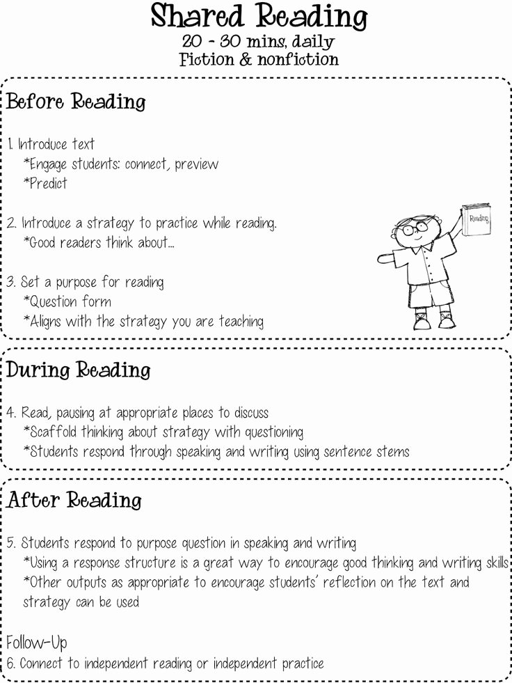 Read Aloud Lesson Plan Template Beautiful This Shared Reading Chart is Great for Teachers and