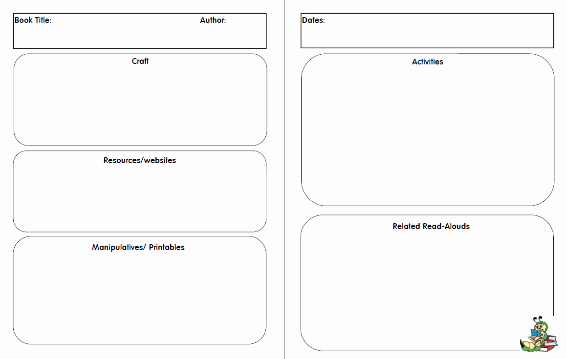 Read Aloud Lesson Plan Template Unique Preschool Read Aloud Planner Pages Works Great with Bfiar