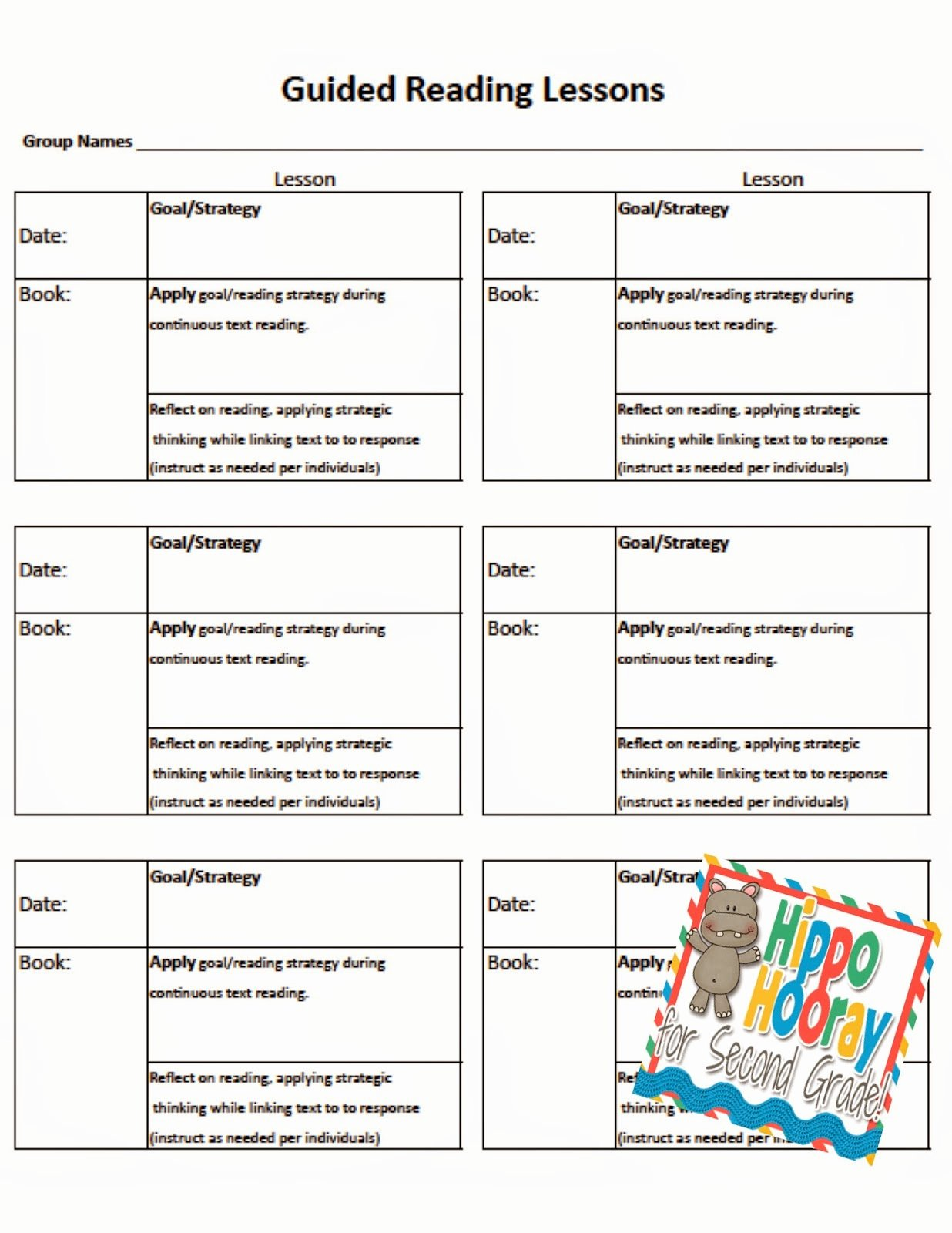 Readers Workshop Lesson Plan Template Inspirational Guided Reading Lesson Planning and Note Taking Hippo