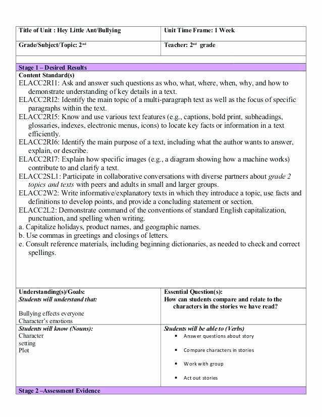 Readers Workshop Lesson Plan Template New Reading and Writing Workshop Lesson Plan Template – 18